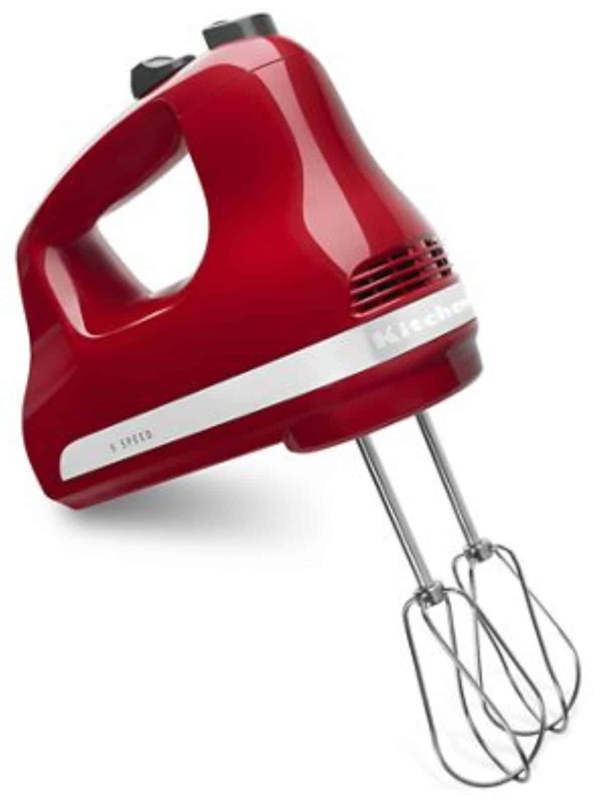 picture of red kitchenaid hand mixer 512