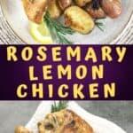 rosemary lemon chicken recipe pin