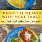 spaghetti squash with meat sauce recipe pin