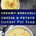 broccoli cheese potato soup recipe pin