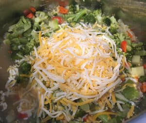 add cheese to pot