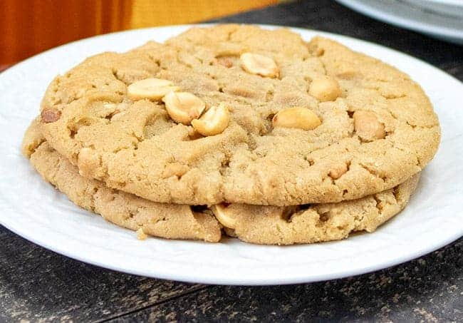baked cookies on white plate