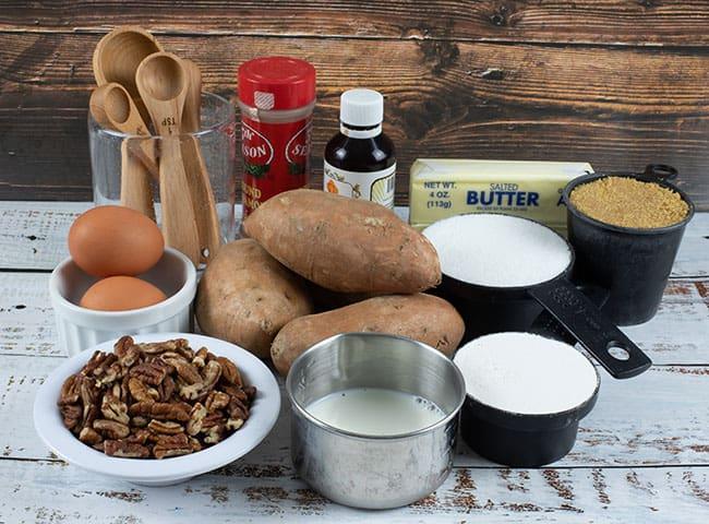 sweet potato casserole ingredients