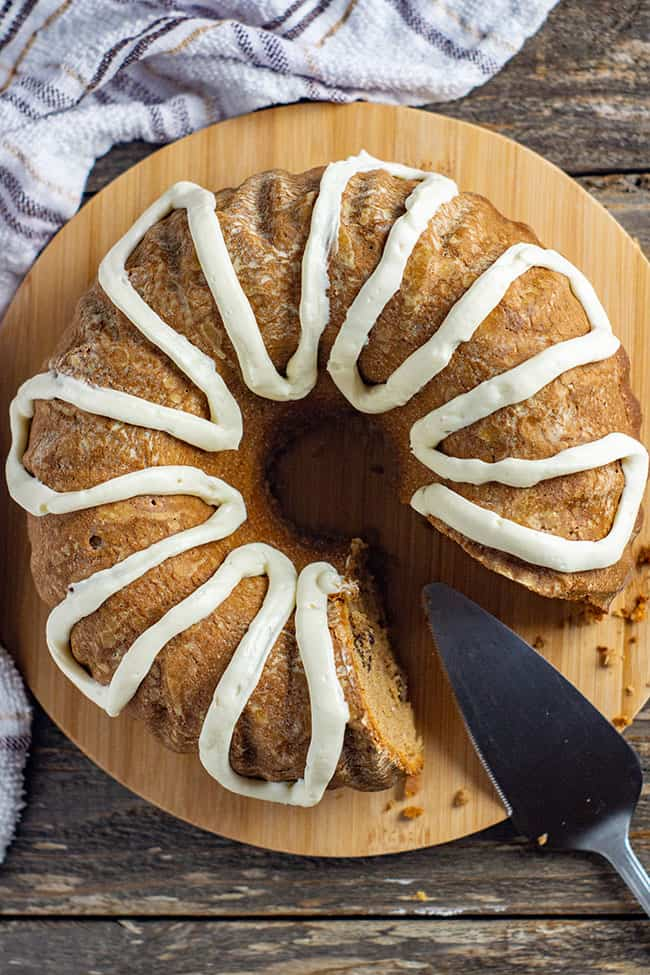 pumpkin spice bundt cake recipe pin