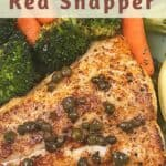 pan seared red snapper fillets image for Pinterest