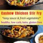 cashew chicken stirfry recipe pin