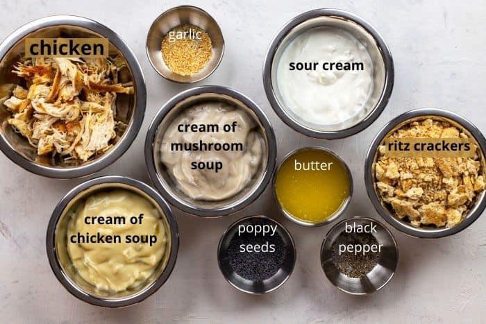 poppy seed chicken ingredients