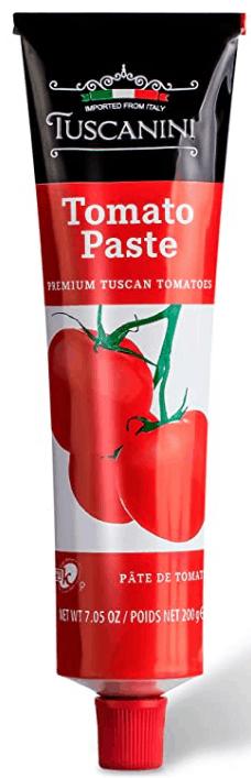 7.05 ounce tube of tomato paste. Tuscanini brand.