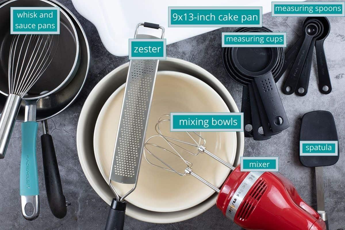 equipment needed on the countertop