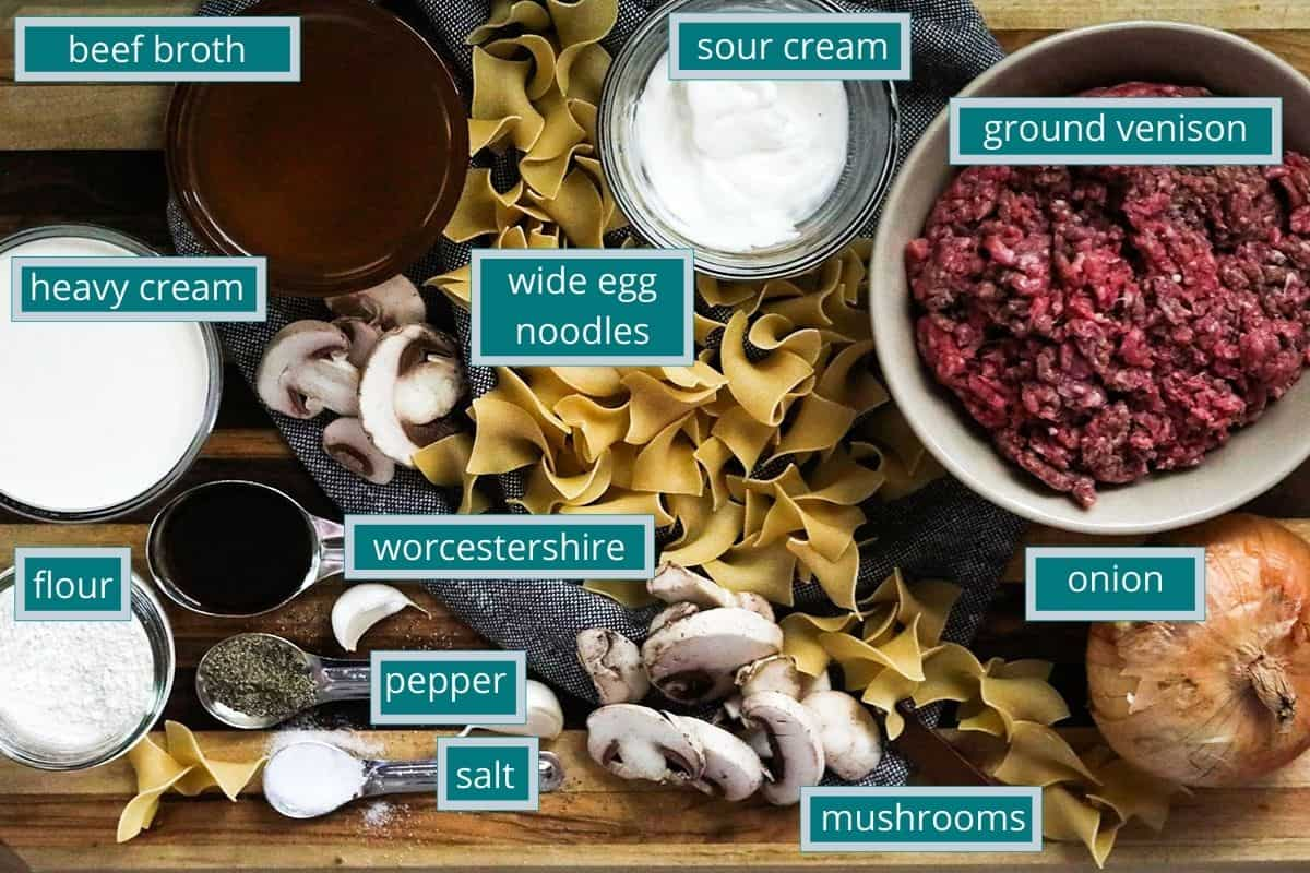 ingredients measured out on counter top